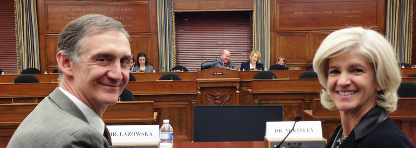Ed Lazowska and Katherine McKinley testifying before Congress