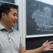 Jerry Zhu giving a lecture.