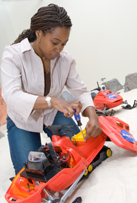 Ayanna Howard working on robots