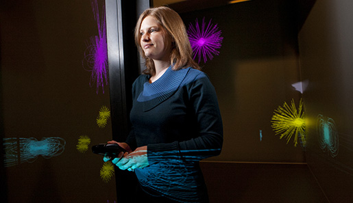 Tabitha Peck.computer science faculty.in the DiVE - Winter/Spring Newsletter Alum Highlight