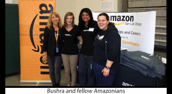 Bushra with Amazon Colleagues
