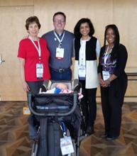 The  2016  CRA-W Grad Cohort  Co-Chairs (Lori Clarke, Sandhya Dwarkadas, Ayanna Howard) with CRA's Erik Russell
