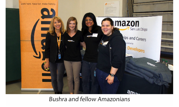 Bushra with Amazon Colleagues