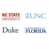 image: Duke, NC State, UNC and Univ Florida logos