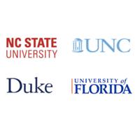 image: Duke, NC State, UNC and Univ Florida logos