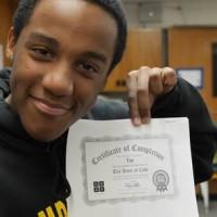 Student during CSEdWeek