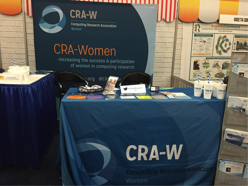 CRA-W Booth at the 2015 Grace Hopper Celebration of Women in Computing.