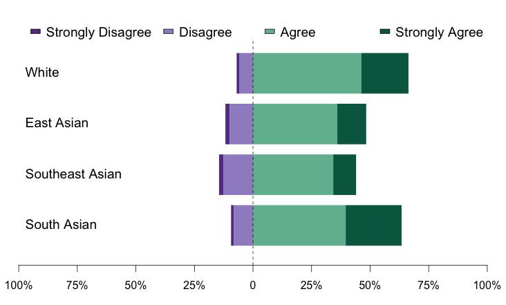Comparision of Asian vs White Undergrad Student Support