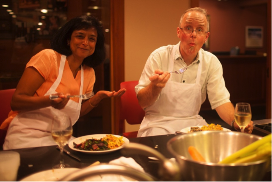 Dwarkadas with Colleague