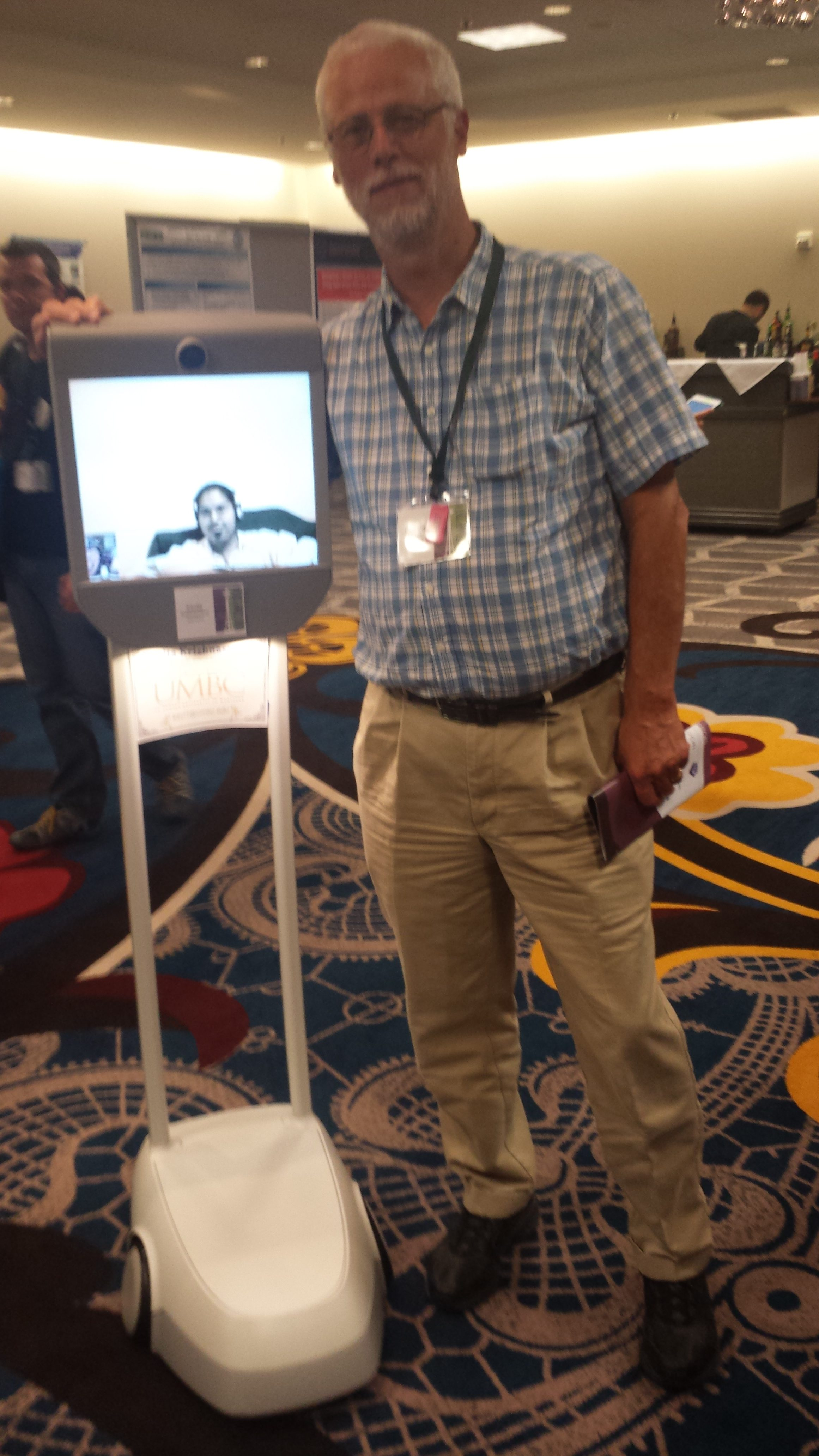 Kavita's telepresence robot with RIchard Ladner