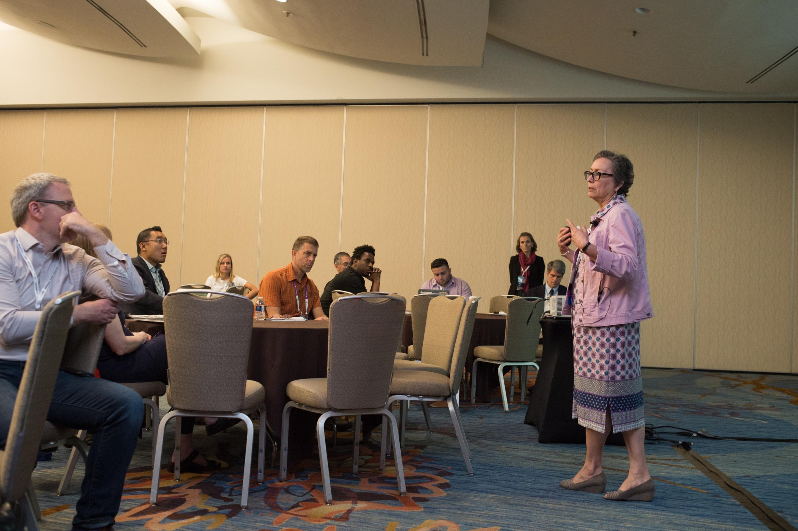Ann Gates presenting
