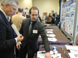 Joseph DelPreto of MIT explains his printable robots to Rep. Rush Holt (D-NJ).