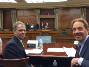 Greg Hager (left) and Keith Marzullo (right) prepare to give testimony before the House Science, Space and Technology Subcommittee on Research and Education on Oct 28, 2015.