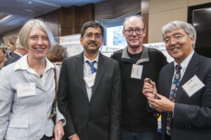 From left to right: Carol Frost, Division Director for the Division of Earth Sciences at NSF; Vijaykrishnan Narayanan, Penn State; Laurent Itti, University of Southern California; and Jim Kurose, Assistant Director for CISE at NSF