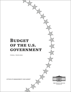 Cover of the President's FY2022 Budget Request