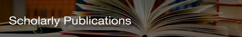 Scholarly Publications banner image