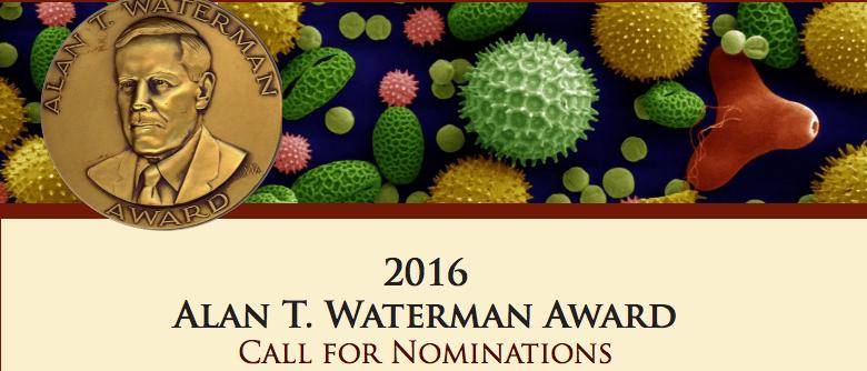 2016 Waterman Award Announcement