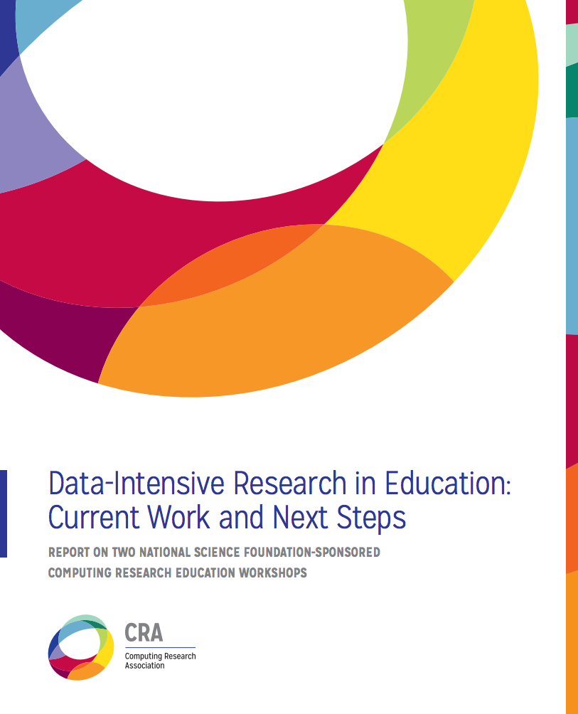 cra releases report on data intensive research in education cra education report cover